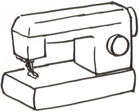 450x364 Sewing Machine Clipart Sewing Kit