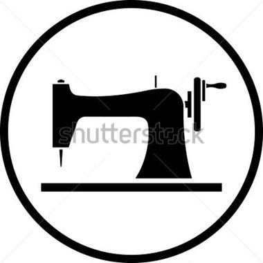 380x380 Sewing Silhouette Clip Art