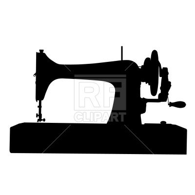 400x400 Sewing Machine Sillouttes Retro Sewing Machine Silhouette