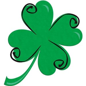 300x300 Swirly Shamrock Silhouette Design And Silhouettes