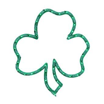 342x342 16 Lighted St. Patrick's Day Irish Shamrock Window
