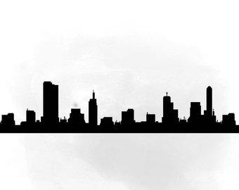 340x270 City Skyline Shanghai Svg Clipart International City Digital
