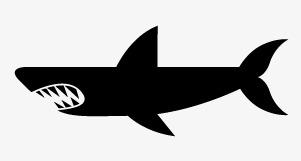 301x161 Shark Silhouette, Shark, Sketch, Shark Vector Png And Vector