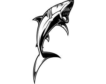 340x270 Shark Silhouette Etsy