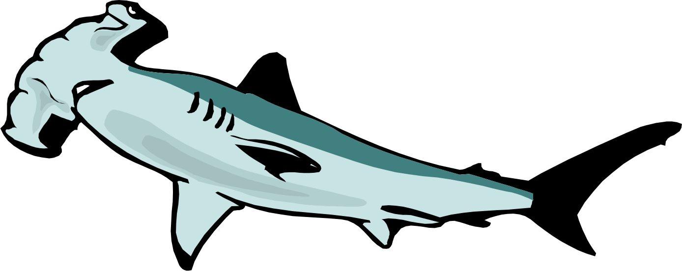 1388x552 Shark Clipart Silhouette Clipart Image 2 2