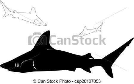 450x282 Shark Vector Silhouettes Clipart Vector