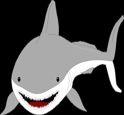 400x371 Bull Shark Clipart Great White Shark