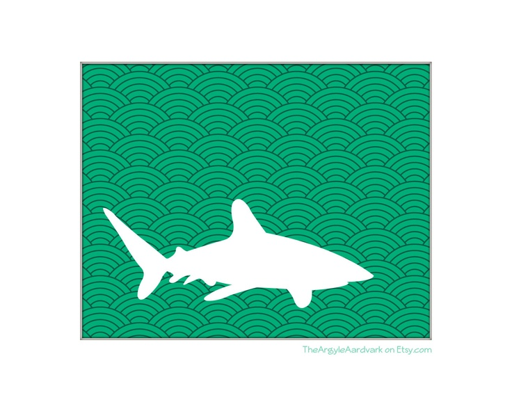 Shark Silhouette In Wave