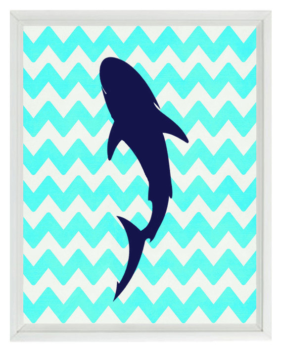 570x713 Make Canvas Like This For Jaxon's Bedroom Shark Silhouette