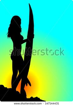 236x341 Silhouette Of The Surfer On An Ocean Wave In Style Grunge Royalty