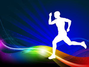 300x225 Sports Silhouettes Royalty Free Stock Image