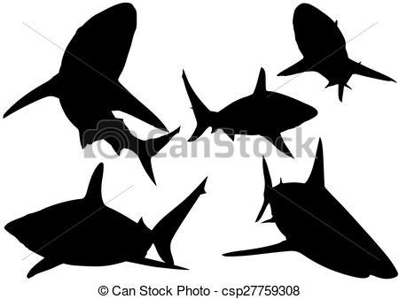 450x338 Shark Silhouette Clip Art Clipart Collection