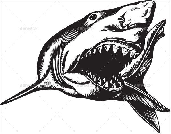 600x471 Shark Silhouettes