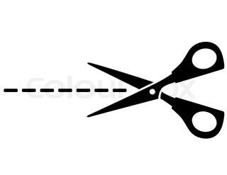 320x247 Silhouette Scissors Vector Illustration On White Stock Vector