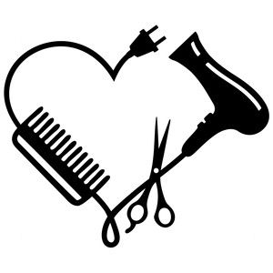 300x300 Hair Stylist Logo Silhouette Design, Stylists And Silhouettes
