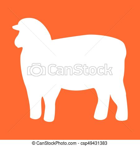 450x470 Sheep Silhouette White Color Icon Sheep Silhouette It Is