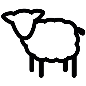 283x283 Sheep Silhouette Silhouette Of Sheep