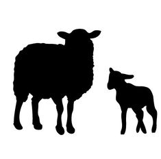 235x232 Realistic Sheep Amp Lambs Silhouettes