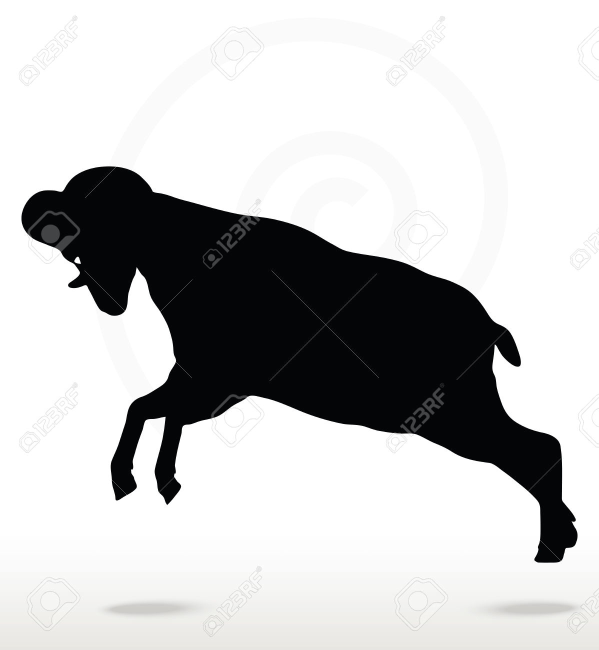Sheep Vector Silhouette