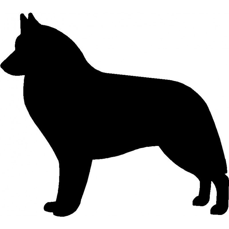 800x800 Dog Breed Silhouette Wall Hanging Magnetic Memo Belgian Sheepdog