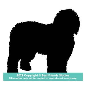 300x300 Old English Sheepdog Dog Silhouette Gifts, Stationery, Address