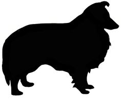 236x194 Sheltie Love Silhouette Design, Silhouettes And Tattoo