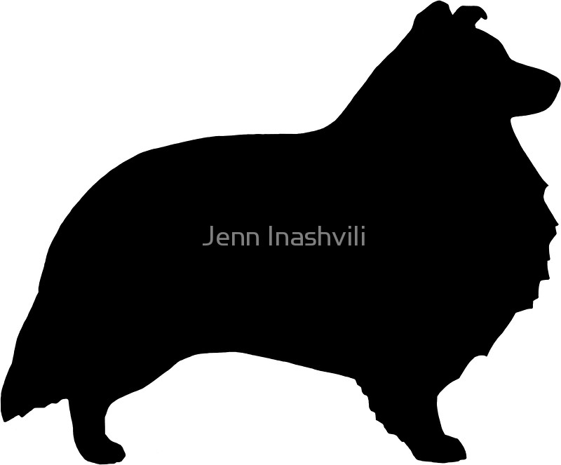 800x663 Shetland Sheepdog Silhouette(S) Stickers By Jenn Inashvili