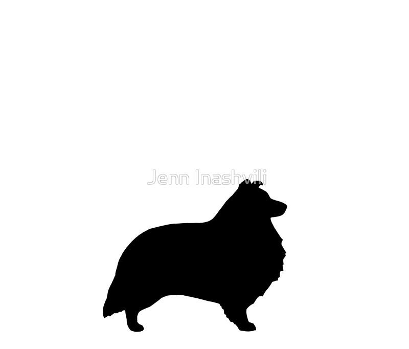 800x682 Shetland Sheepdog Silhouette(S) Travel Mugs By Jenn Inashvili
