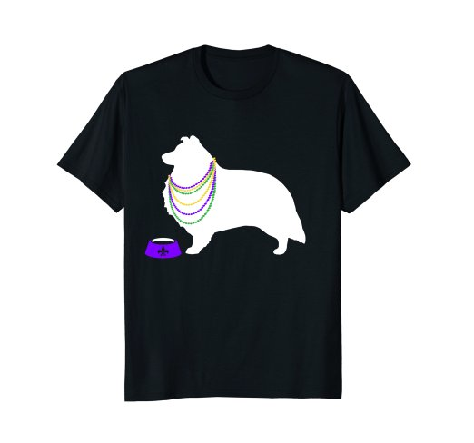 522x488 Shetland Sheepdog Mardi Gras Dog Silhouette Party T