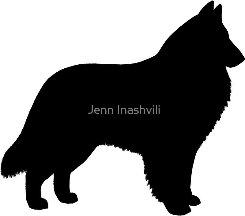 800x705 Belgian Sheepdog Silhouette(S) Stickers By Jenn Inashvili Redbubble