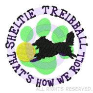 190x190 Jumping Agility Shetland Sheepdog Decal Sew Dog Crazy