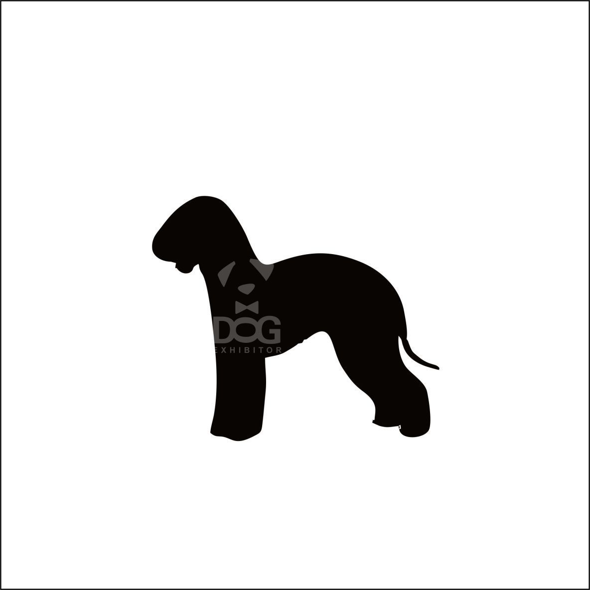 1184x1184 Bedlington Silhouette Stickers