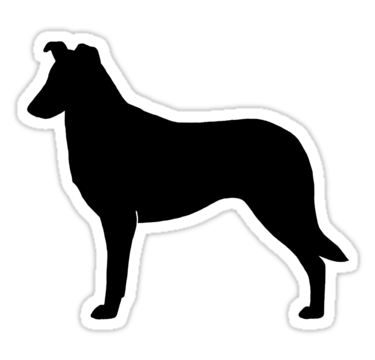 375x360 Stickers For Collie Silhouette Stickers