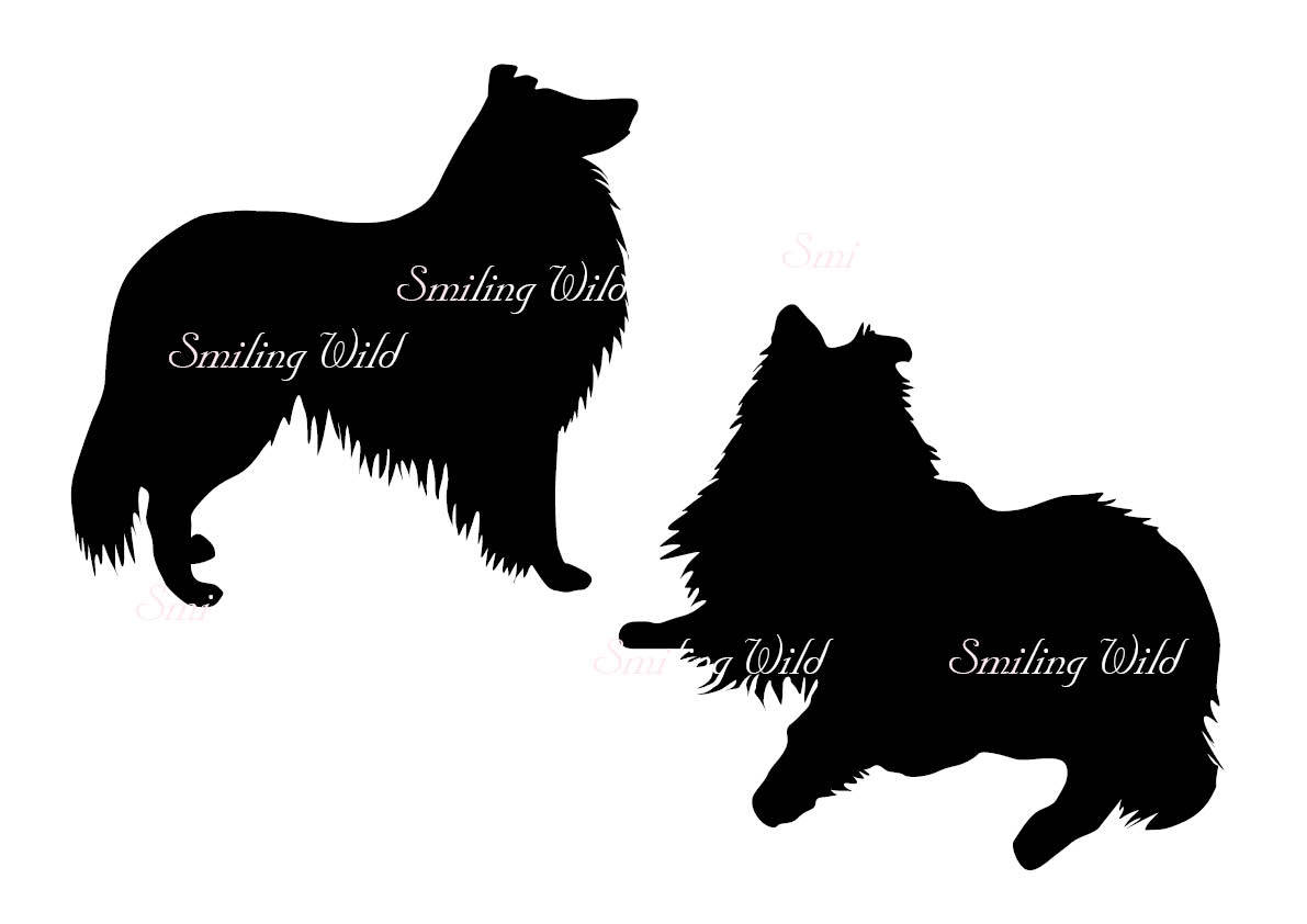 1191x842 Collie Svg Silhouette Clipart Dog Artwork Printable Vector Graphic