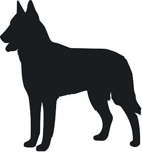 281x300 Belgian Shepherd Malanois Dog Decal Sticker Car Van Vinyl