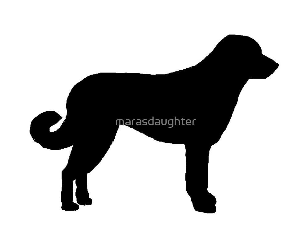 1000x775 Anatolian Shepherd Silhouette By Marasdaughter Redbubble