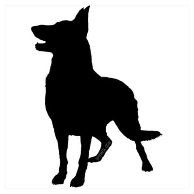 400x400 Dog Silouhette Stencil German Shephard Cafepress Gt Wall Art
