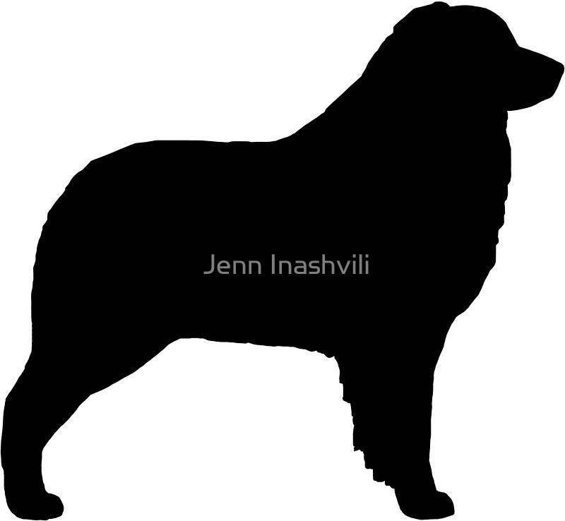 800x738 Australian Shepherd Silhouette(S) Stickers By Jenn Inashvili