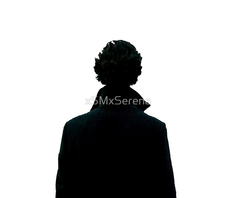 800x679 Sherlock Holmes Black Silhouette Posters By Xsmxserena Redbubble