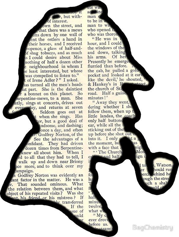 605x800 Classic Sherlock Holmes Silhouette