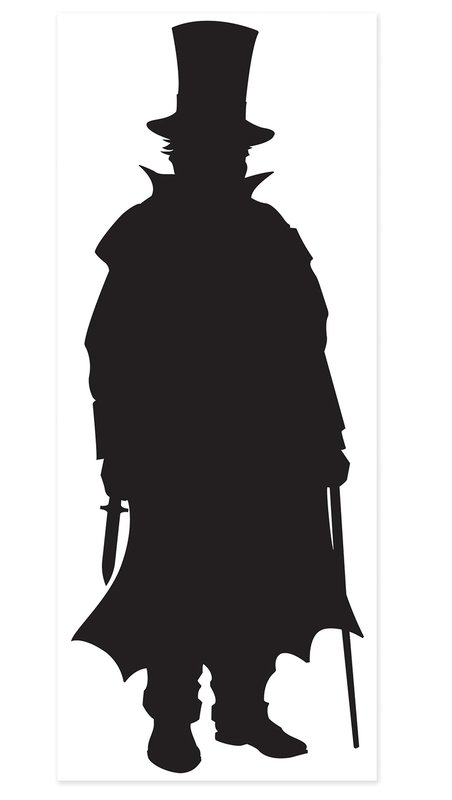 452x800 The Beistle Company Sherlock Holmes Villain Silhouette Standup