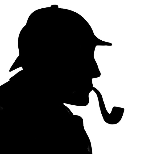 500x500 Sherlock Holmes Silhouette Clip Art Tweets With Replies By Andre