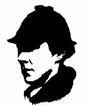 177x207 Sherlock Holmes (Benedict Cumberbatch) Silhouette By