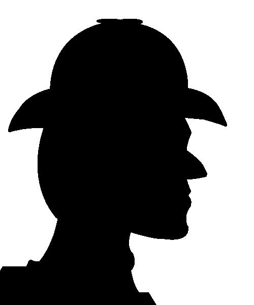 500x600 Sherlock Holmes Silhouette By Xmischiefmanagedx