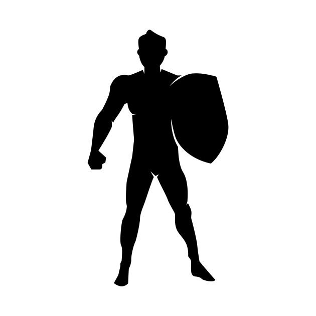 630x630 Limited Edition. Exclusive Man With Shield Silhouette