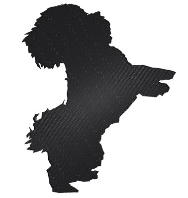 378x400 Shih Tzu Silhouette Embroidery Designs, Machine Embroidery Designs