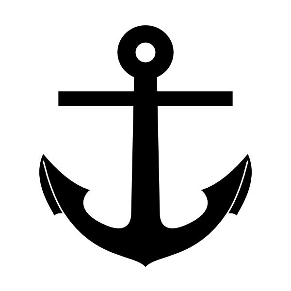 600x600 Pirate Ship Silhouette Anchor Silhouette Clip Art