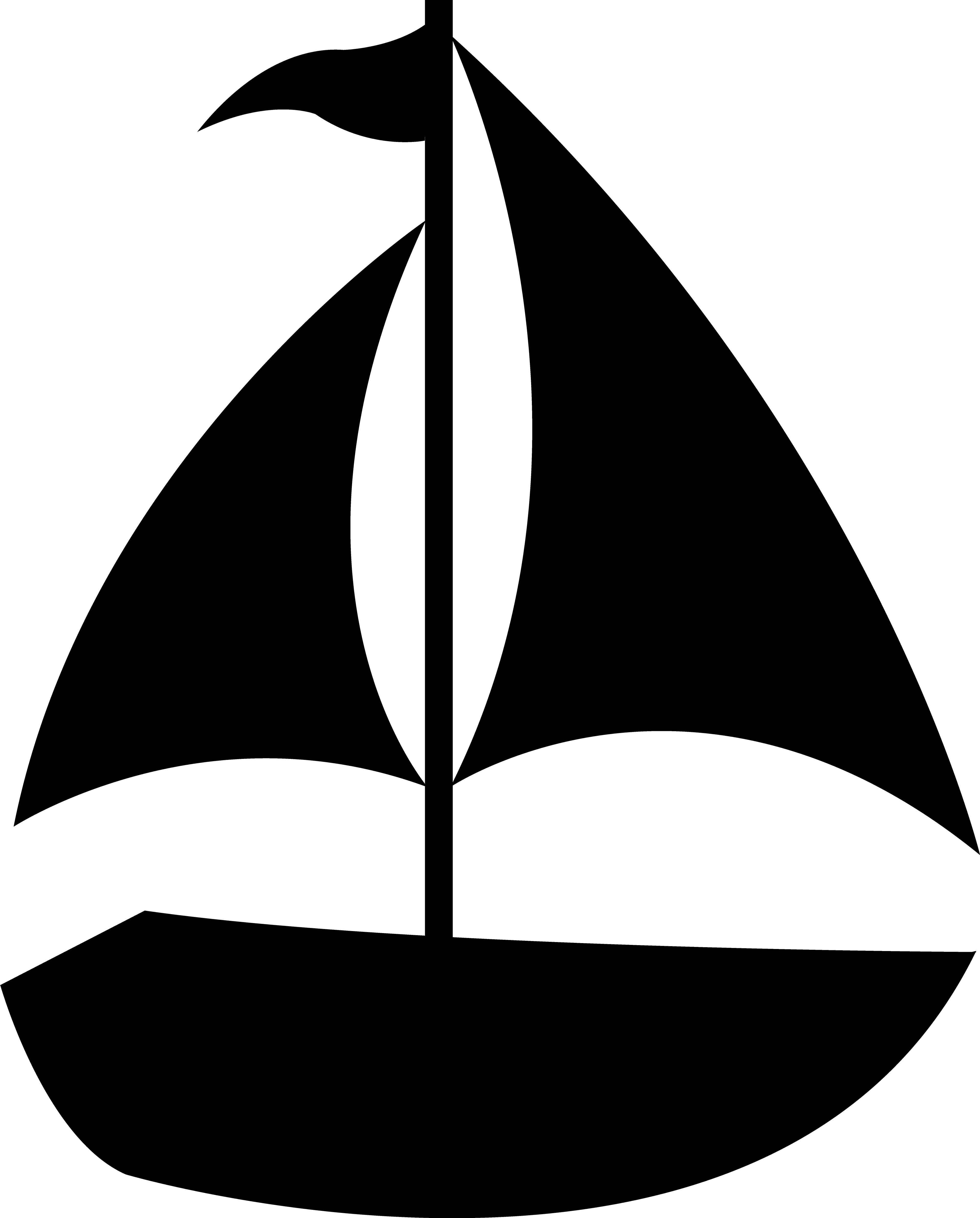 3827x4754 Black Sailboat Silhouette