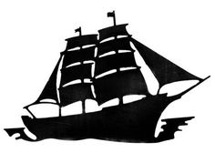 236x168 Two Old Ship Printables Ships, Silhouettes