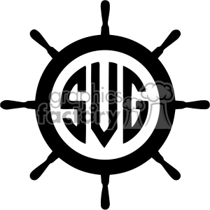 300x300 Royalty Free Ship Wheel Monogram Svg Cut File 403098 Vector Clip